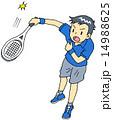 テニス 男性 サーブ 14988625