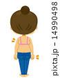 ジーパンの女性(ビフォー) 14990498