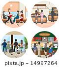 ビジネス / 食事を楽しむ人々 14997264