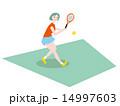 テニスをする女性 14997603