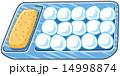 きなこ 生菓子 蕨餅のイラスト 14998874