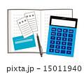 家計簿と電卓とレシート 15011940