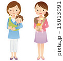 子育て 母子 ママ友のイラスト 15013091