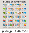 Flags of Americas. Vector Flat Illustration 15022589