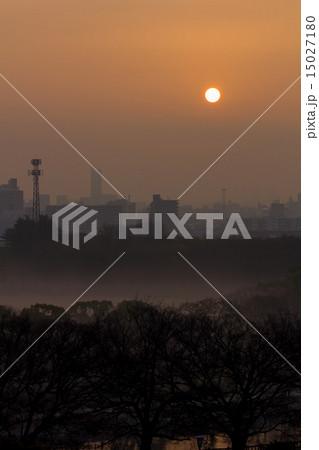 大阪城公園からの日の出 15027180