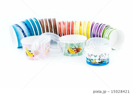 Ice cream cupsの写真素材 [15028421] - PIXTA