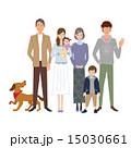 子育て 三世代 ベクターのイラスト 15030661