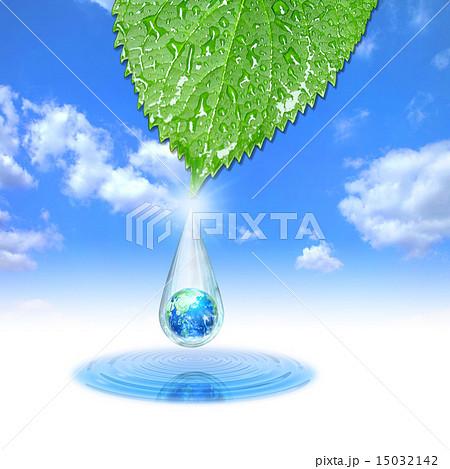水滴の中のエコロジーな地球 15032142