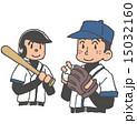 球児 野球部 ベクターのイラスト 15032160