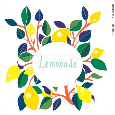 lemonade label bright designのイラスト素材 15038686 pixta