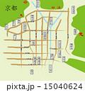 京都の寺院と送り火マップ 15040624