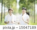 ジョギングをするカップル 15047189