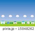 街並み 家並み 背景素材のイラスト 15048262