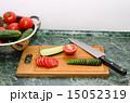 ナイフ 出刃 赤いの写真 15052319