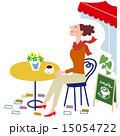 カフェで和む女性 15054722