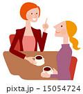 珈琲を飲みながら話す女性達 15054724