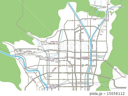 京都の略地図 15056112