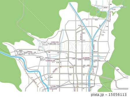京都の略地図 15056113