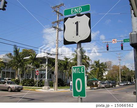 フロリダ、国道1号終点の写真素...