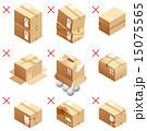 ベクター 注意 梱包のイラスト 15075565