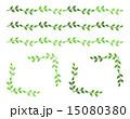 フレーム 飾り罫 葉のイラスト 15080380