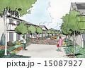 ソーラーシステム 町並み 家のイラスト 15087927
