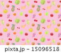 フルーツ 果物 食べ物 バナナ イチゴ メロン モモ ブドウ 葡萄 ぶどう グレープ マスカット パ 15096518