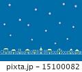 街並み 街 雪のイラスト 15100082