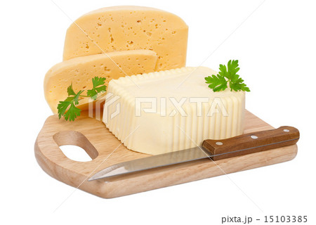 Butter and cheeseの写真素材 [15103385] - PIXTA