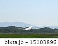 秋田空港 離陸 飛行機の写真 15103896