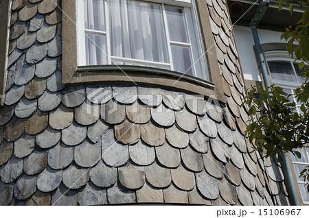 神戸北野の異人館「うろこの家」:うろこ状の天然スレート外壁 15106967