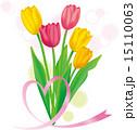 ベクター リボン 花のイラスト 15110063
