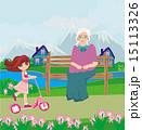 スクーター 幼い 女の子のイラスト 15113326