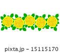 柄 花柄 背景素材のイラスト 15115170