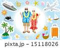 アイコン セット シニアカップルのイラスト 15118026