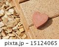 ガーデニング レンガ ハートの写真 15124065