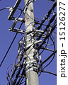 電信柱 電柱 電線の写真 15126277