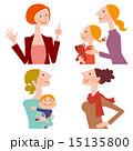 話す女性と聞く女性達 15135800