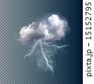 電光 稲光 雷光のイラスト 15152795