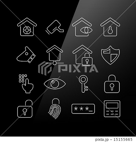 Home security concept icon 15155665