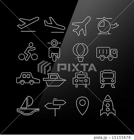 Transportation icons set 15155678