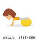 エクササイズ バランスボール ベクターのイラスト 15164669