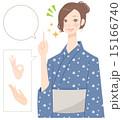 和服 女性 人物のイラスト 15166740