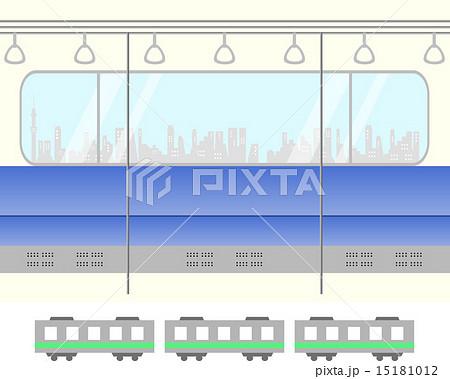 電車 車内のイラスト素材 15181012 Pixta