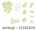 日本地図 ベクター 地方のイラスト 15181034