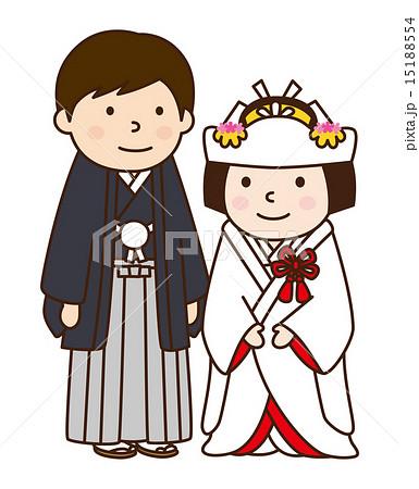 新郎新婦 結婚式のイラスト素材 [15188554] , PIXTA