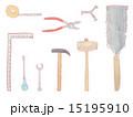 工具 日曜大工 DIY 道具 大工道具 工具類 金槌 メジャー 巻尺 ペンチ レンチ 工事 イラスト 15195910