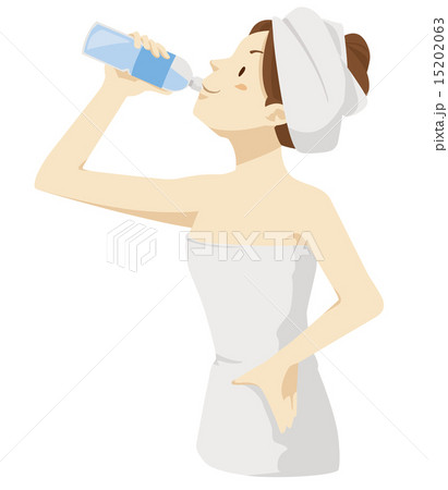 水分補給する女性 15202063