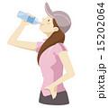 飲む 水分補給 スポーツドリンクのイラスト 15202064