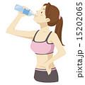 飲む 水分補給 スポーツドリンクのイラスト 15202065